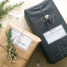 Étiquettes cadeaux chez little storage