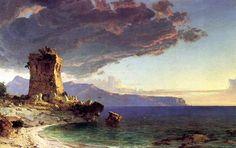 The Isle of Capri - Jasper Francis Cropsey 1848