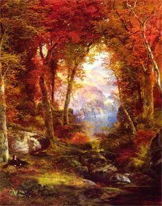 """Under the Trees"" by Thomas Moran, 1865"
