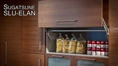 SLU-ELAN is a vertical lift mechanism for cabinet doors, and a great way to grab essentials.