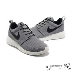 Nike Roshe Run Womens Mens Shoes Gray Black White - Nike Roshe Run