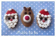 Santa & Rudolph Christmas Biscuits