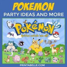 Pokemon Party Ideas and more!