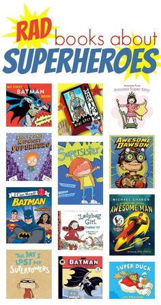 a dozen great superhero books for kids to check out!