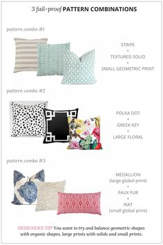 Deko How to Mix & Match Throw Pillows Like a Pro How To Care For Your Furniture Investing in quality Home Staging, Home Living Room, Living Room Decor, Sofa Styling, Sofa Pillows, Cushions On Sofa, Accent Pillows, Interior Design Tips, Layout Design