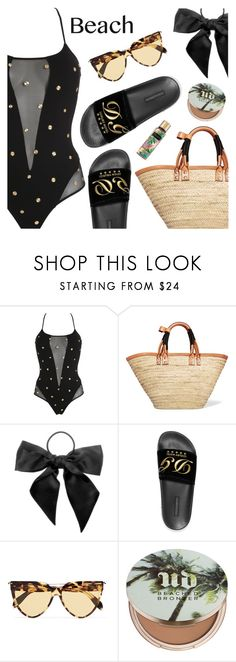 """Sun's Out: Beach Day"" by dressedbyrose ❤ liked on Polyvore featuring PIN UP STARS, Balenciaga, L. Erickson, Dolce&Gabbana, Alexander McQueen, Urban Decay, Victoria's Secret, beachday and polyvoreeditorial"