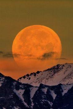 Moonset, Sierra Crest by DM Weber