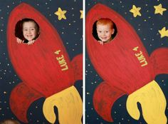 Blast off into the sky today with this darling ROCKET SHIP