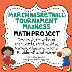 March Madness Basketball Tournament Math Project - PBL by Kristine Nannini Teaching 5th Grade, 5th Grade Classroom, Middle School Classroom, Teaching Aids, Teaching Math, Classroom Ideas, Writing Algebraic Expressions, Math Projects, Teaching Methods