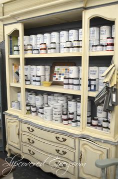 Annie Sloan Chalk Paint Ideas -Slipcovered Grey