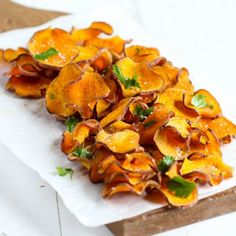 Baked Sweet Potato Chips - Healthy,  Whole 30, Paleo, Gluten Free.