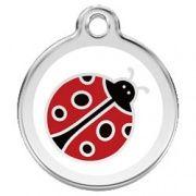 Dog ID Tag by Red Dingo - Ladybug - Large