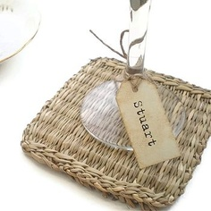 Personalised Wine Glass Name Tags