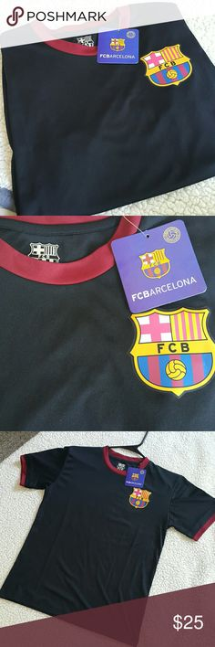 Women's FC Barcelona Top For those FCB fans out there! Women's FC Barcelona Top Size S. Black color. NEW with tags. FC Barcelona Official Product. Nice and light material. Make me an offer:) FC Barcelona Tops Tees - Short Sleeve