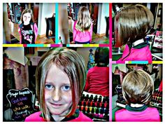 What a beautiful makeover for a beautiful girl!