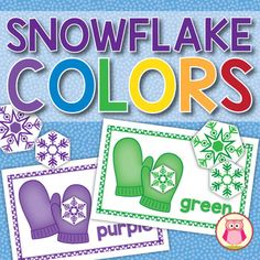 Snowflake Color Matching Activity for Preschool and Pre-K: A snow and winter themed color matching activity. Kids will have the opportunity to learn colors, practice counting, compare numbers, sort by style and size, play several different games. Sorting Activities, Color Activities, Winter Activities, Group Activities, Toddler Activities, Preschool Christmas, Christmas Activities, Christmas Crafts, Preschool Winter