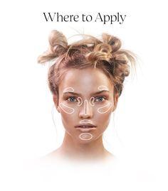 Sephora: Where to apply highlight