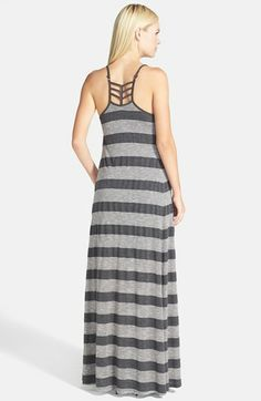 Stripe Cage Back Maxi Dress // @Nordstrom   lovin the maxi's this year