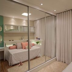 Built-in wardrobe with mirrored door. Wardrobe Design, Built In Wardrobe, Build A Closet, New Room, Online Furniture, Furniture Shopping, Bedroom Decor, New Homes, House Design