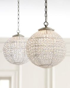 crystal ball pendants...horchow