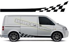 We can make these racing stripes to suit all Volkswagen Transporters, choose your van type and T4 Transporter, Volkswagen Transporter, Vw T5, Racing Stripes, Flag Design, Campervan, Suits You, Color Show, Colorful Backgrounds