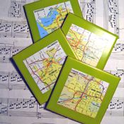 Think I'm going to make coasters from all the cities I've lived in.