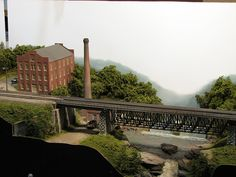 2810 Power Plant and Bridge in HO Scale | Power plant and br… | Flickr