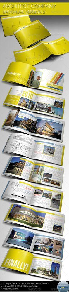 Architecture Brochure Template  Portfolio Brochures  Cv