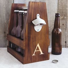 Opentip.com: Cathy's Concepts 2297 Personalized Rustic Craft Beer Carrier with Bottle Opener