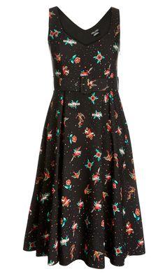 City Chic - CUTE TEA LENGTH DRESS - Women's Plus Size Fashion