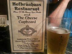 German food in Gatlinburg, TN!  Great Reubens & Hofbrau beer!