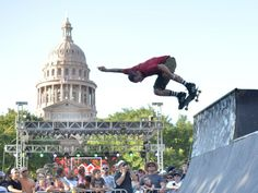 X games rally with the capitol in the background