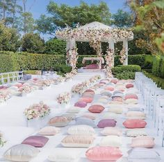 The floral decor at his Anand Karaj ceremony looks so dreamy! Love the play of baby pinks and white! Planned and styled by… Best Picture For garden wedding ceremony decorations For Your Taste You are Wedding Ceremony Ideas, Sikh Wedding Decor, Pastel Wedding Theme, Outdoor Indian Wedding, Wedding Mandap, Wedding Set Up, Indian Wedding Decorations, Wedding Stage, Outside Wedding