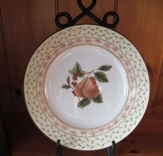 Johnson Brothers Pears Fruit Sampler Dinner Plate New Unused Made in England #JohnsonBrothers