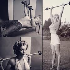marilyn monroe weight lifting