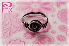 'Pink and Black Simplicity Rose Custom Ring' is going up for auction at 12pm Sun, Jun 24 with a starting bid of $5.
