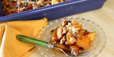 Squash and Apple Casserole with Cranberry-Pecan Streusel