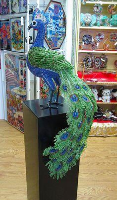Large Peacock Display