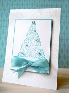 Pretty stamped Christmas card!