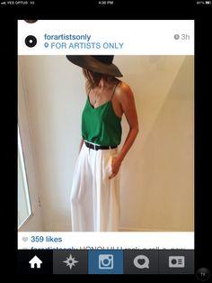 Emerald green silk slip