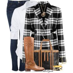 """Plaid Blazer"" by lv2create on Polyvore"