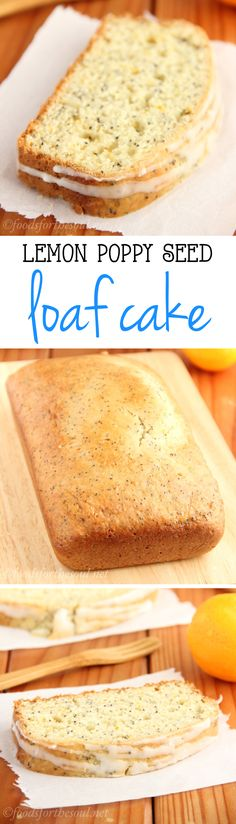 A really easy recipe for Lemon Poppy Seed Loaf Cake. It's so full of flavor, you can't even tell it's healthy & lightened up! Healthy Cake, Healthy Sweets, Healthy Dessert Recipes, Healthy Baking, Delicious Desserts, Just Desserts, Yummy Food, Brunch Recipes, Quick Bread Recipes