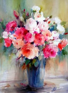 Fabio Cembranelli- Brazilian painter and teacher offers a gallery of florals and landscapes in watercolor and oil