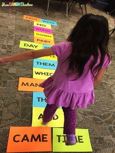 Engaging sight word activity for kindergarten Could create cake walk with sight words for Fall Fest