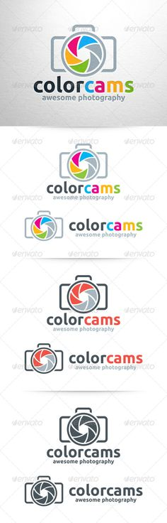 Color Cams Photography  - Logo Design Template Vector #logotype Download it here: http://graphicriver.net/item/color-cams-photography-logo/6420633?s_rank=726?ref=nexion