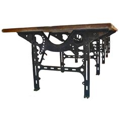 Huge industrial table. | From a unique collection of antique and modern tables at http://www.1stdibs.com/furniture/tables/tables/