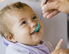 The American Academy of Pediatrics recommends starting solids with rice cereal, then moving to oatmeal and the introducing pureed vegetables. However, the specific time frame for introduction varies based on your individual baby's needs. Baby Cereal, Rice Cereal, Meat For Babies, Pea Baby Food, High Fiber Vegetables, Baby Cost, Starting Solids, Baby Eating, Childhood Obesity