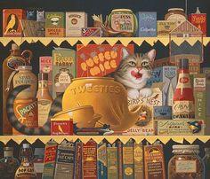 Ethel the Gourmet, by Charles Wysocki ANNIVERSARY EDITION CANVAS