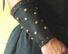 Armadura medieval celta vikingo brazales por MorganasCollection