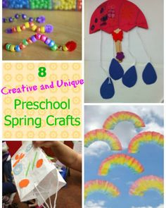 8 easy preschool spring crafts - so many unique and creative ideas!!